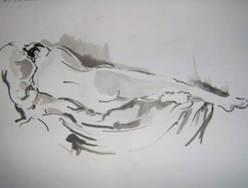 [Artist page] reclining nude (ink)